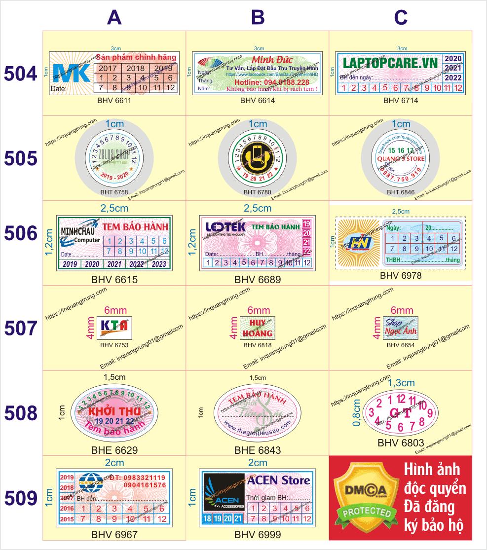 In tem bảo hành ở tại Bắc Kạn